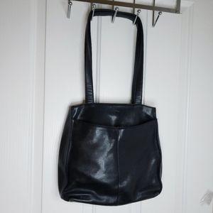 Jones New York Black Leather Shoulder Bag